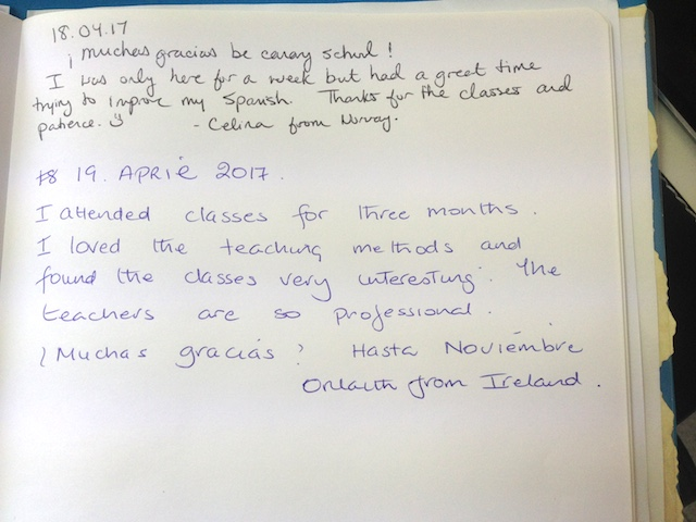 Orlaith's review after her Super Intensive Spanish Course which se has taken in Be Canary School.