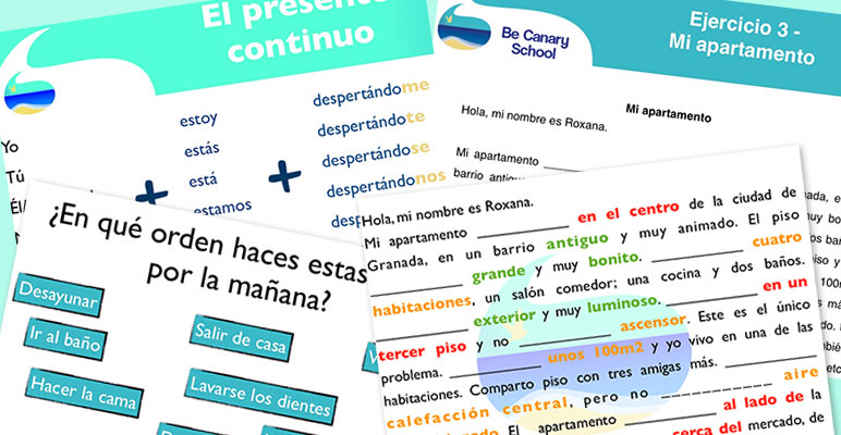 Pretty fast but also relaxed way of learming Spanish in Be Canary School