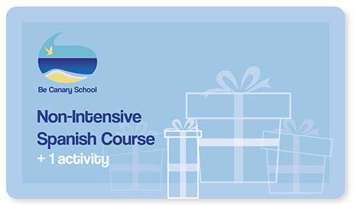 The gift card of Non Intensive Spanish Course which you can buy via PayPal.
